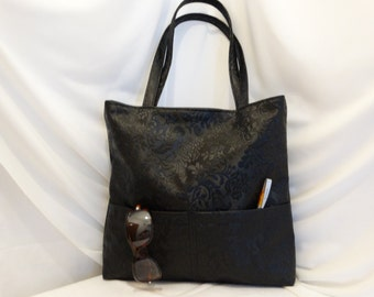 vegan leather bag,Lady's bag,black bag