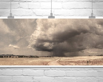 Prairie Photograph, Ranch Landscape Art, Arizona Monsoon Storm, Thunderstorm Art, Sierra Vista, Country Roads, Picture Gift, Arizona Gift