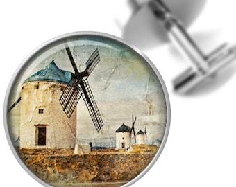 Cufflinks Retro Windmills Cuff Links for Dads Fathers Men