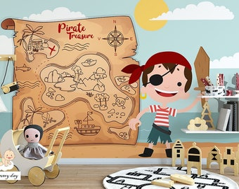 Wallpaper for kids Pirate