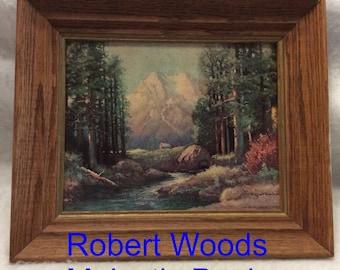 Robert Wood Majestic Peaks vintage Winde Fine Prints Lithograph, mid century.