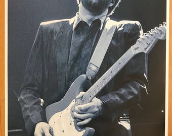 "Wall Art, Poster Art, Eric Clapton Royal Albert Hall 1987 rare 23"" x 34"""