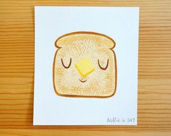 Buttered Toast - Mini Original Painting