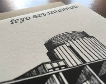 Custom Business Note Card, Frye Museum, Custom Architecture Card
