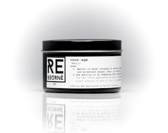 COURAGE- ReBourne hand poured soy scented candle black sea