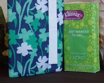 Everyday Purse or Pocket Tissue Cover - Beautiful Shamrock Shades