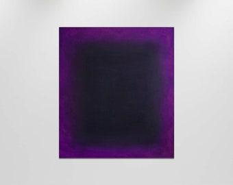 Purple and black - Horror abstract original oil painting, Original abstract painting on canvas, Minimalist wall art, Purple Violet artwork
