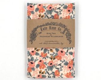 Pocket Square, Floral Pocket Square, Peach Handkerchief, Groom's Handkerchief, Peach Wedding Hanky