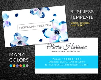 Rodan + Fields Business Card | Flowers Business Card | Independent Consultant Card | Custom Rodan and Fields Business Card | Digital File |