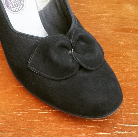 1 1940's pumps black suede 7 size Jettick 2 Enna Women's WfqfwpngC
