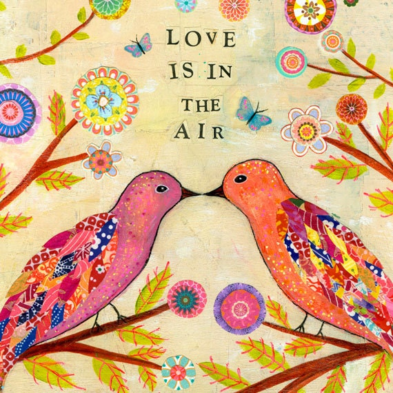 Dorable Love Bird Wall Art Ensign - Wall Art Collections ...
