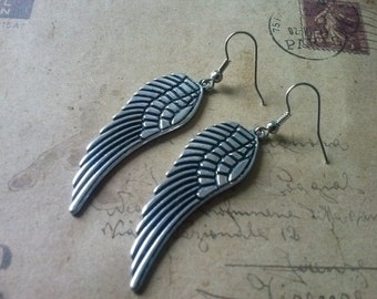 Wings earrings ~ silver ~
