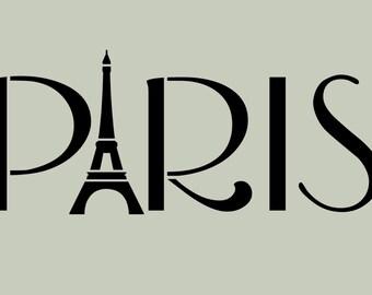 Paris STENCIL French Eiffel Tower 10x4.2
