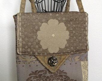 Gold/Grey Crossbody Bag