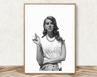 Lana Del.Rey Poster - Lana Del Rey Print Lana Art Fashion Photography Lana Poster Music Poster Fashion Photo Music Print Fashion Decor