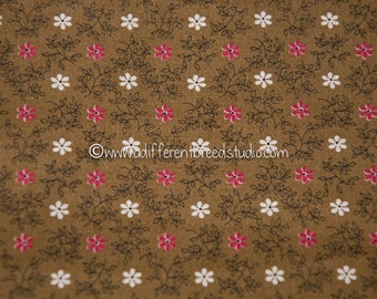 Little Fall Daisies - Vintage Fabric New Old Stock Juvenile 50s 60s 36 in wide