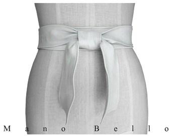 White leather belt, Women Basic White Leather Tie Belt, White Leather Coat Belt, White Obi Belt  xsmall  small  medium  large  extra large
