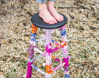 Fabric wrapped stool