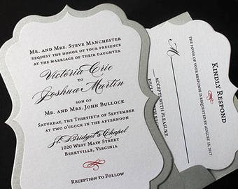 Bracket Invitation, Wedding Invitation, Bridal Shower Invitation, Quinceanera Invite, 50th Birthday Party Invitation, Anniversary Invite