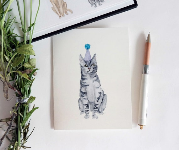 Greeting Card: Party Cat V
