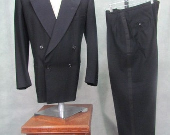 1940sTuxedo 44R Suit Double Breasted