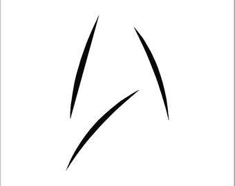 Star Trek Beyond Minimalist Style New Starfleet Insignia Combadge, Coffee Mug, Yeti Decal, Rtic Decal Vinyl decal, /car / truck/ laptop