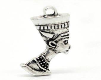 (X 2) silver Pharaoh charm