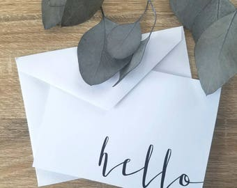 Modern calligraphy card- Minimalist blank stationary card- Available in bulk!