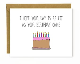 Funny Birthday Card for Friend / Funny Best Friend Birthday Card / Birthday Card for Boyfriend / Coworker Birthday / Happy Birthday - Lit