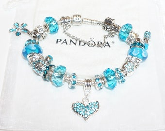 Love you in Blue - Authentic Jared Pandora bracelet