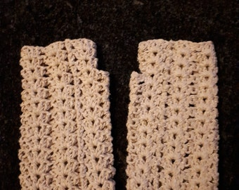 Lovely cluster stitch handwarmers