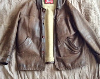 Full Leather vintage mexicana 80's jacket
