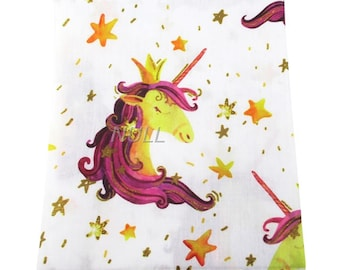 unicorn stars  fabric