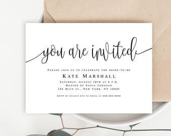 Invitation cards etsy bachelorette invites instant download bridal shower template invitation card printable invitation card template bridal invitations stopboris Choice Image