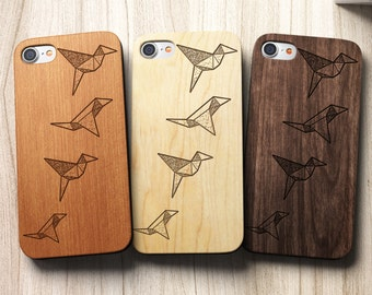 Geometric Birds iPhone 8 Case also for iPhone X , 8, 8 Plus, 7,SE,5/5s,6s/6 Plus and 7 Plus Case, S6, S7,S7 Edge, S8 ,S8Plus