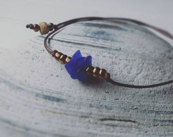 Blue Cobalt - Sea Glass Bracelet