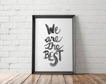 Inspirational Printable, Inspirational Art Print, Inspirational Wall Art, Motivational Print, Lettering Print, Watercolor Print