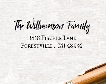 Return Address Stamp Style 76,  Custom Address Stamp, Self Inking Address Stamp, Custom Rubber Address Stamp, Personalized Wedding Stamper