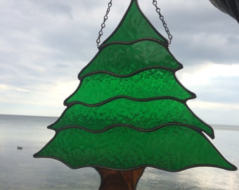 Stained Glass Christmas Tree, Stained Glass Tree,Green Tree