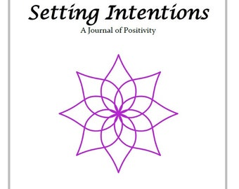 Setting Intentions Worksheet print out