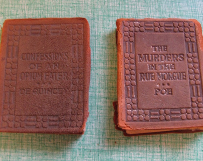 The Little Leather Library De Quincey and Poe Vintage and Antique Books
