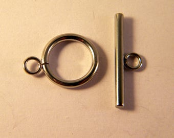 5 19 mm x 14 mm stainless steel toggle clasp set AH