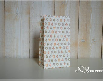 Bag gift paper 12 x 22 cm - set of 6-2 patterns available