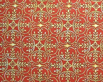 MAGASIN fermeture vente - chrysanthème, Maywood Studio, 100 % coton courtepointe tissu, tissu Quilting, Orange, Damas