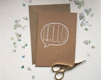 Just A Note To Say 'Hello' Card / Hello Card / Thanks Card / Greetings Card