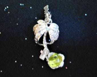 Sterling Silver Palm Tree Charm Pendant