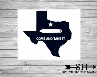 Come and take it Decal, Texas Decal, Yeti Decal, Car Decal