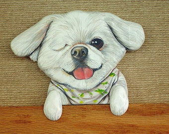 Custom Pet Portraits - All carved and whittled our of Northern White Pine and/or basswood - Hand Painted