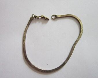 Antique Sterling Sliver Rectangle Box Chain Bracelet