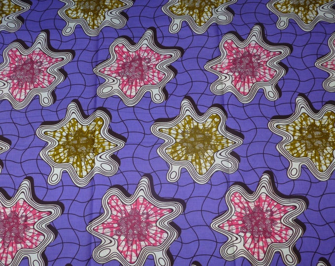 African Fabrics Super Wax Prints African Fabric For Dressmakings/Fabric for Sewing Dresses, Skirts, Sold By Yard